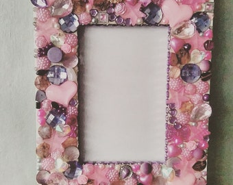 Pretty In Pink Embellished Photo Frame