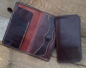 SALE!! Wallet Waxed Leather With Coins Purse