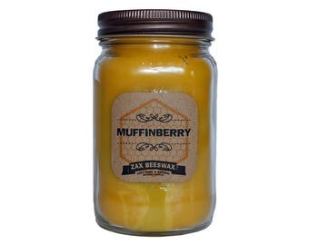 Muffinberry Scented Beeswax Mason Jar Candle | 16 oz