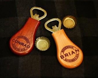Groomsmen gift, Best Man Gifts, Bestman Gift, Groomsman Bottle opener, Bottle Opener, Personalized Bottle Opener, Wedding gift