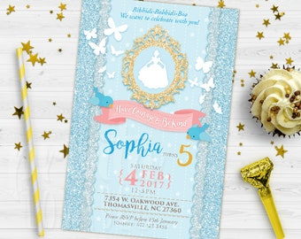 Cinderella invitation | Etsy