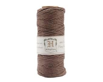 Dark Brown Hemp Cord, Baker's Twine, Wrapping, Beading, Jewelry Cord, Cordage, 20-Pound, 3 Ply, 205 Feet