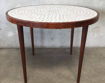 Mid Century Tile Table for Marshall Studios by Gordon Martz (P9SD5S)