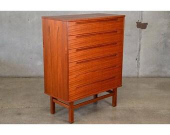 Teak Highboy Dresser by Nils Jonsson for HJN Mobler (5SPKB4)