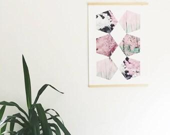 Giclee Flowers Print 50 x 70