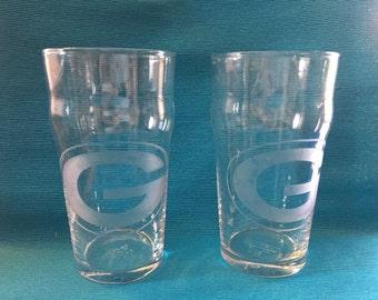 Set of 4 Green Bay Packers Pub Glasses