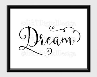 Dream Wall Art dream wall art   etsy