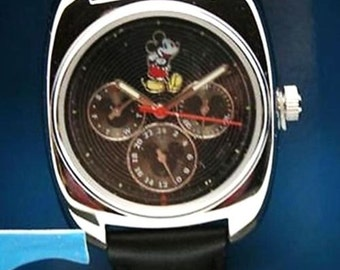 Disney Mickey Mouse Watch Men's Black Day - Date Dial Watch