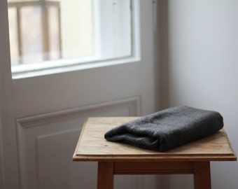 Dark grey 100% Cashmere scarf (Currently out of stock/can be requested)