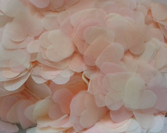 1500 pieces handmade biodegradable wedding confetti- peach pale pink and ivory