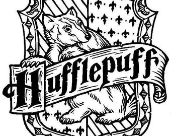 SVG, harry potter hufflepuff crest, harry potter,  house crest , disney, cut file, printable file,  cricut, silhouette, instant download