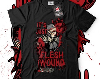 Just A Flesh Wound Holy Grail Men Black T-shirt S-5XL NEW | Wellcoda *d1388