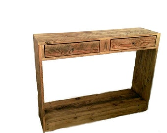 Rustic Console Table (or Occasional / Side Table) made from reclaimed pallet wood