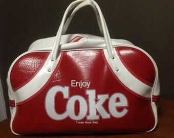 Vintage Coca Cola Sports Bag, Vintage Coke, Coca Cola, Vintage Sports Bag, Coca Cola Collectibles, Coke Collectibles, Coca-Cola, Enjoy Coke