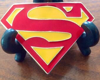 Superman Belt Buckle, Superman, Vintage Superman, Vintage Belt Buckle, DC Comics