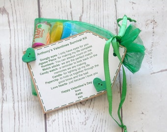 Valentine's Day Survival Kit - Personalised on request - boyfriend - girlfriend - love - gift -fiance - husband - wife