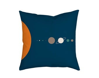 Scale of the Solar System Pillow, Decorative Pillows, Designer Pillow, Throw Pillow, Travel Pillow, Space Pillow Planets Pillow