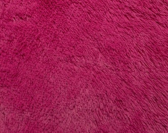 SALE 20% OFF Hot Pink Shaggy Cuddle Minky Fabric by Shannon Fabrics