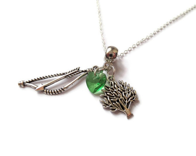 ONCE UPON a TIME inspired Robin Hood silver tone charm necklace ouat fan gift jewellery Regina Uk