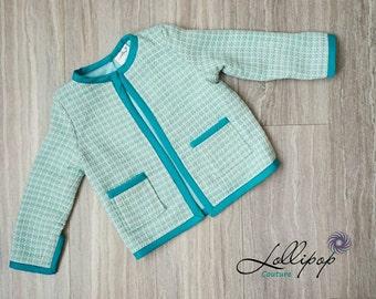 Toddler Jacket - Girls Jacket - Girls Coco Jacket - Toddler Tweed Jacket - Girls Tweed Jacket - Girls Blazer - Toddler Blazer - Tweed Jacket