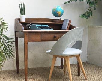 Bureau en chêne massif vintage -