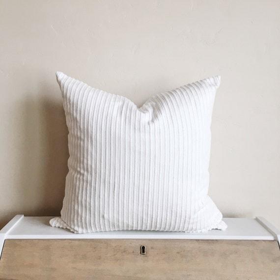 Cream Courduroy Pillow Cover - 18x18 - 14x28