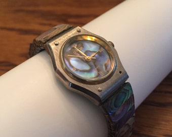 Vintage Gem Time Turquoise Exspandable Round Faced Ladies Watch