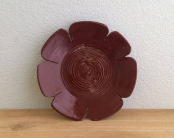 ceramic wall flower. home decor. wall hanging. wall decor. wall flowers. wall sculpture. outdoor decor. patio decor. gifts for mom