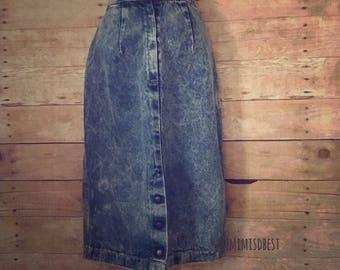 Vintage 80's/90's  acid wash skirt