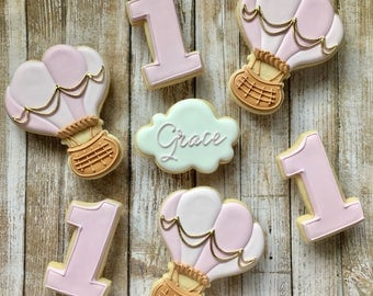 Hot Air Balloon Sugar Cookies(12)
