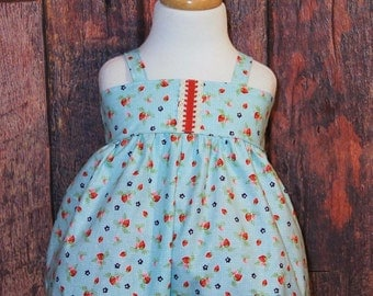 Strawberry Romper | Baby Romper | Bubble Romper | Dresses | Strawberries | Country Outfit | Summer Romper | Baby Girl Outfit | Rompers