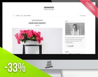 "Simple Responsive WordPress Theme - ""Jennifer"" | Wordpress Template - WordPress Website Template - Fashion Blog Design - Wordpress Themes"