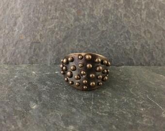 Bronze Warrior Ring 6.75