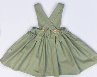 Sage green one of a kind Pinafore
