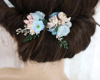 Flower Hair Pins - Heaven