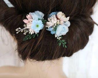 Flower Hair Pins - Heaven