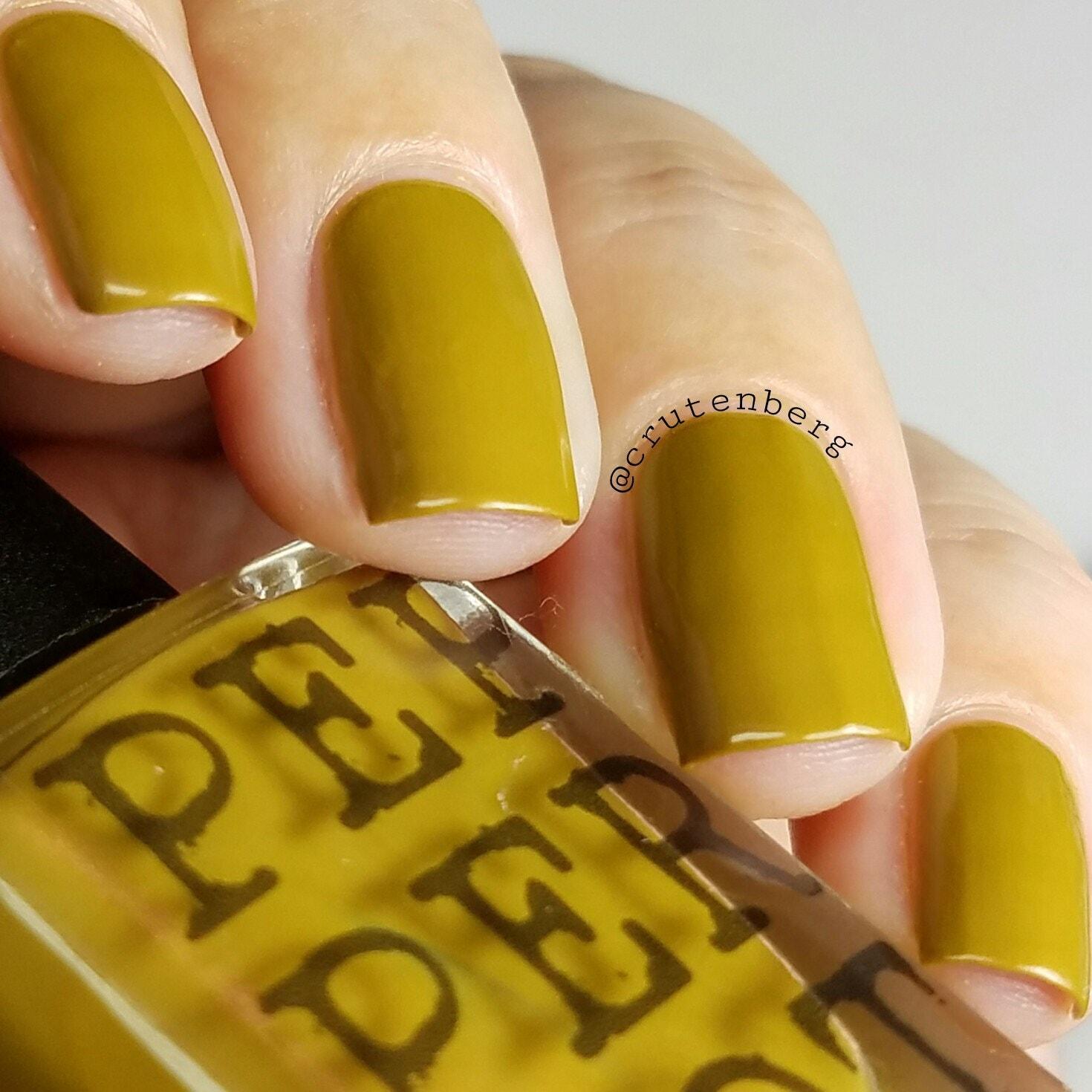 Acid Yellow Nail Polish: Mustard Yellow Nail Polish 5 Free Bombshell Makeup Bath Beauty