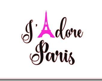 J'adore Paris decal