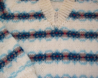 Children's hand knit fair isle sweaters