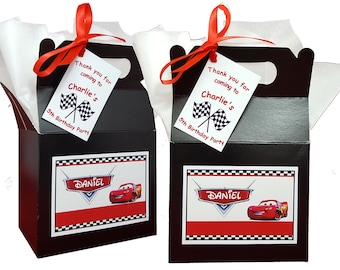 Personalised Party Bag/Box Disney Cars Inspired Themed Birthday Party Favours Lunch Gift Box