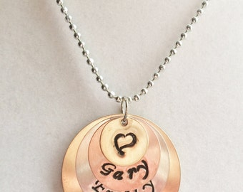 Personalized, Handstamped Necklace