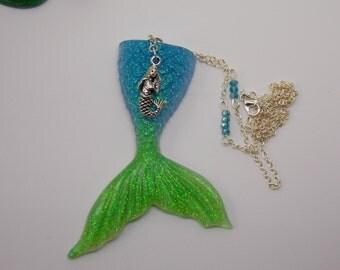 Mermaid tail Necklace, Resin Mermaid Necklace, Jewelry, Seaside, Beach, Mermaid Jewellery, Resin Pendant Jewelry, Beach Jewelry, Mermaids,