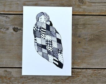 Mother & Baby Quilt Print - 5X7