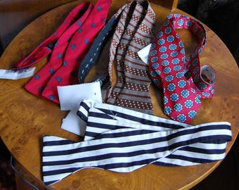 Selection of tie your own bow ties.  Buy one at a time.  Will combine shipping