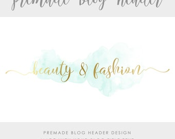 Premade Blog & Website Header - Design #3 - Made with text and colors of your choice