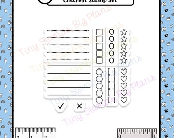 Planner stamps - Checklist stamp set - To Do List