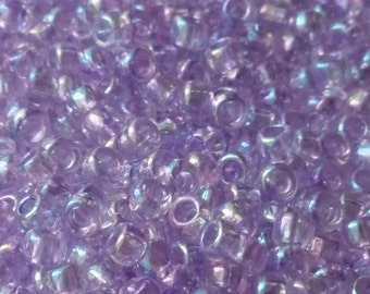 10g Transparent-Rainbow Foxglove TOHO Seed Beads 8/0 - Approx. 424 Beads - Purple Rainbow Beads - 8/0-477D