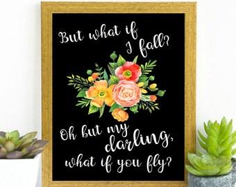 What if I fall? Digital Art Printable