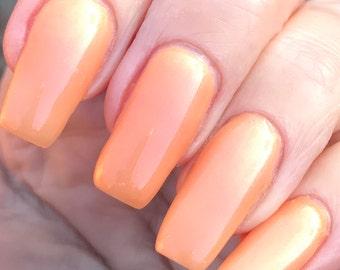 Splendid  sheer cantelope iridescent nail polish