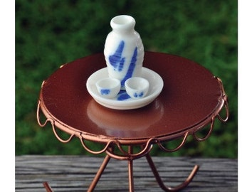 Fairy Garden  - Sake Set 4 Pieces - Miniature